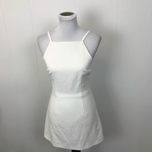 French Connection White High Neck Dress